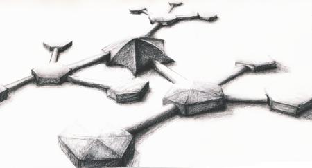 Charcoal sketch concept art